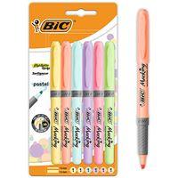 6 marcadores fluorescentes BIC Highlighter Grip Pastel