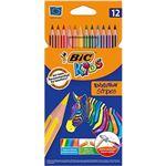 12 lápices para colorear BIC Kids Evolution Stripes