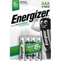 Energizer Pack Pilas Recargables 4xAAA Extreme