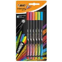 Pack 6 rotuladores Bic Fineliner Intensity Rainbow Punta fina