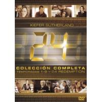 24 horas - Temporadas 1 - 9 + 24 Redemption - DVD