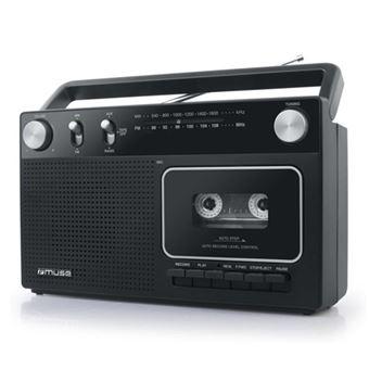 Radiocassette Muse M-152 RC AM/FM Negro