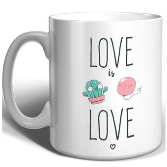 Taza Miss Borderlike Love is Love - Cactus y globo