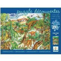 Puzzle Observación dinosaurios Djeco (100 piezas)