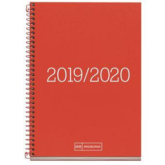 Agenda Miquelrius 2019/20 Semana Vista Essential Rojo