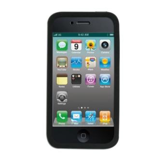 43c2f187476 TNB Funda protectora en silicona negra para iPhone 4/4S + Protector Pantalla