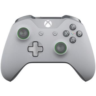 Mando wireless gris claro con acentos verde Xbox One