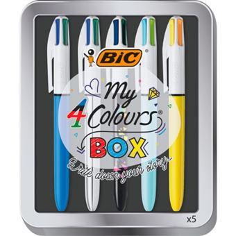 Estuche 4 bolígrafos Bic de 4 colores Collection Box