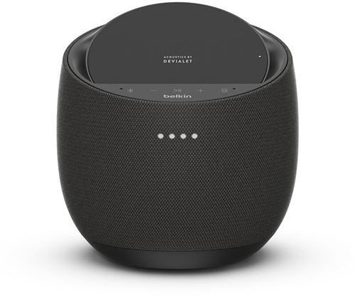 Altavoz inteligente Belkin Soundform Elite Smart + cargador inalámbrico AirPlay Negro