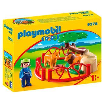 Playmobil 1.2.3 Recinto para leones