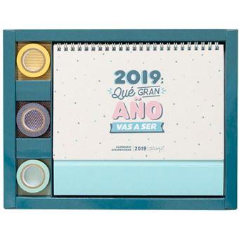 Calendario Mr Wonderful 2019.Mr Wonderful Calendario Scrapbooking 2019 Que Gran Ano