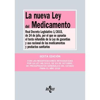 Nueva ley del medicamento, la
