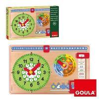 Reloj Calendario Escolar Castellano