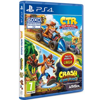 Pack Crash Team Racing Nitro Fueled + Crash Bandicoot Trilogy PS4