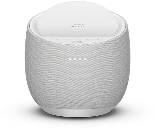 Altavoz inteligente Belkin Soundform Elite Smart + cargador inalámbrico AirPlay Blanco