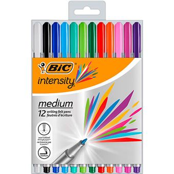 Pack 12 rotuladores Bic Fineliner Intensity Punta media