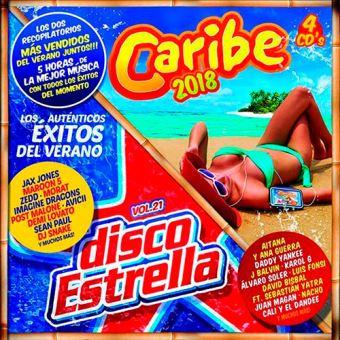 Caribe 2018 + Disco Estrell Vol. 21 - 4 CD