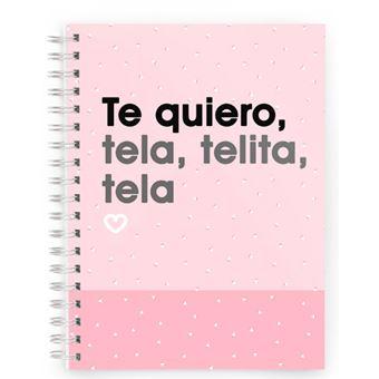 Cuaderno Miss Borderlike A5 Tapa Dura - Te quiero tela, telita, tela