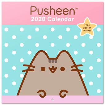 Calendario de pared 2020 Erik 30x30 multilingüe Pusheen Rose Collection