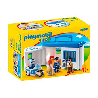 Playmobil 1.2.3 Maletín Comisaría policía