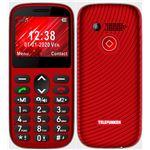 Teléfono móvil Telefunken S420 Rojo