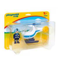 Playmobil 1.2.3 Helicóptero de policía