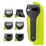 Afeitadora Series 3 Shave&Style 300BT Negro/Verde