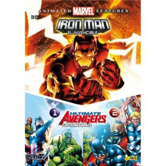 Pack Ultimate Avengers 1 y 2 + Iron Man: El invencible - DVD