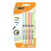 Marcadores fluorescentes Bic Highlighter Grip Pastel Set