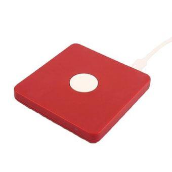 Cargador inalámbrico Temium Rojo para iPhone
