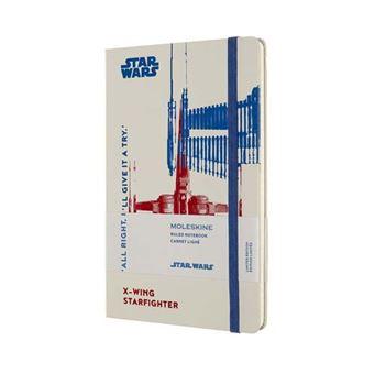Libreta Moleskine Star Wars X-Wing Tapa Dura Rayada gris - Ed Limitada