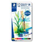 12 lápices acuarelables Staedtler colores surtidos