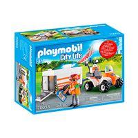 Playmobil City Life Quad de rescate con remolque