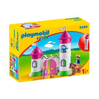 Playmobil 1.2.3 Castillo con torre apilable