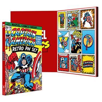 Pack 9 pines Marvel – Capitán América retro