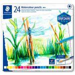 24 lápices acuarelables Staedtler colores surtidos