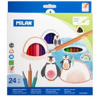 Caja 24 lápices Milan triangulares 231 colores