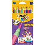 12 lápices BIC Kids Evolution Circus para colorear