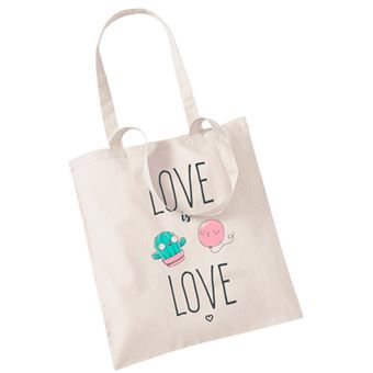 Bolsa Miss Borderlike Love is Love - Cactus y globo