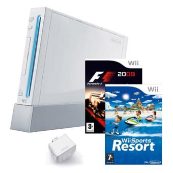 Wii Blanca + F1 + Wii Sport Resort + Wii Motion plus