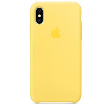 Funda de silicona Apple Amarillo canario para iPhone Xs