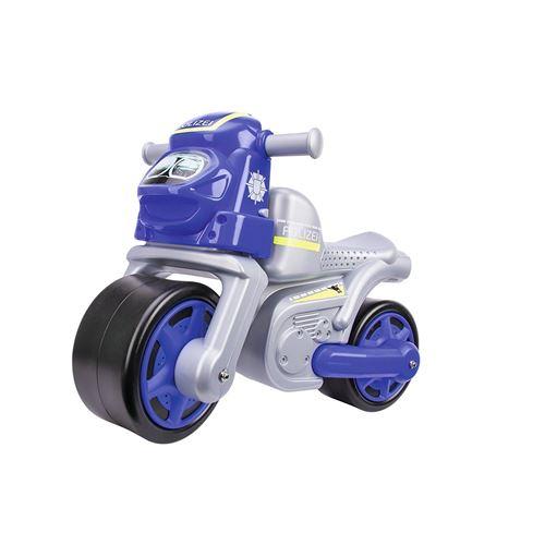 Big 800056312 Big -Moto de police pour enfant -Youpala - bleu-argent