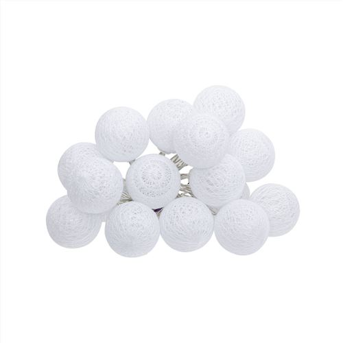 guirlande 16 mini boules led blanches