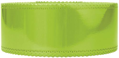 Ruban charlotte dentelle vert anis