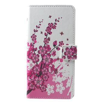 Etui En Pu Motif Fleur De Prunier Pour Votre Xiaomi Pocophone F1