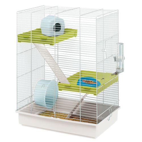 HAMSTER TRIS Cage pour hamsters 46x29 xh58 Blanc