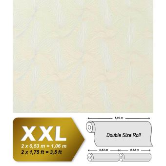 Xxl Papier Peint Intisse 3d Edem 959 20 Dessin Abstrait Retro Lignes Galbees Raye Blanc Perle 10 65 M2