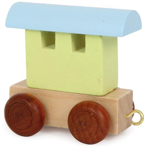 Small Foot bois pour wagons de chemin de fer vert/bleu 6 x 3,5 x 5,5 cm