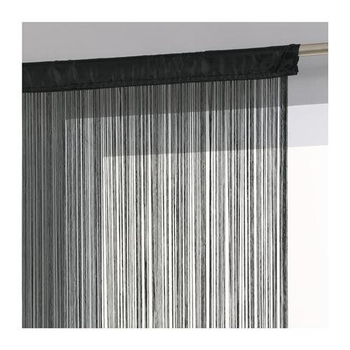 Rideau fils largeur 90 cm - Noir