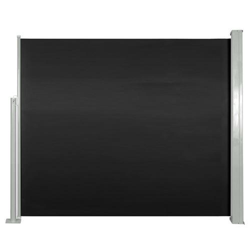 vidaXL Auvent latéral rétractable 120 x 300 cm Noir